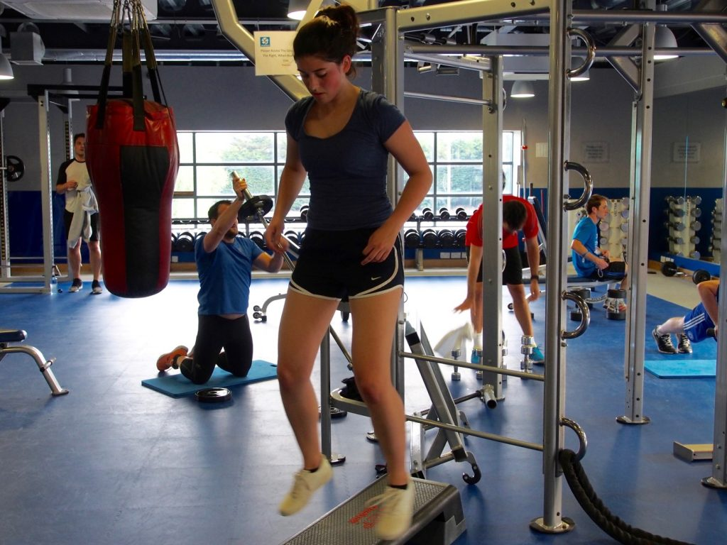 Jumping squats in action at Functional Training.