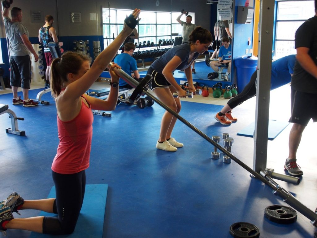 A few different weight-lifting exercises in our Functional Training rotation.
